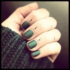 """matte nails, """"tattoo"""" detail, jewelry detail"""