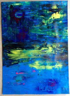 """Peinture contemporaine acrylique """"Nuit D'Ivresse"""" par Borbès : Peintures par borbes"""