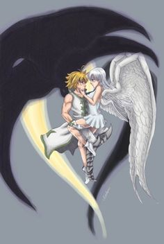 The abstract of the Love Story of Nanatsu no Taizai, Anime Seven Deadly Sins Anime, Elizabeth Seven Deadly Sins, 7 Deadly Sins, Manga Anime, Otaku Anime, Anime Naruto, Meliodas And Elizabeth, 7 Sins, Seven Deady Sins