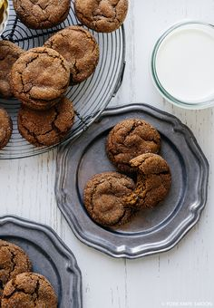 Chewy Ginger Cookies | Fork Knife Swoon