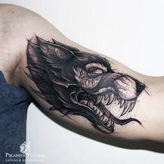 Piranha Tattoo Studios & Supplies by Kati Berinkey #tattoo #leg #thigh #ink http://tattoopictures.org/black-grey-tattoos/