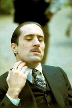 Robert De Niro as Vito Corleone in The Godfather Part II. Corleone Family, Don Corleone, The Godfather Part Ii, Godfather Movie, Al Pacino, Great Films, Good Movies, Hollywood Actor, Old Hollywood