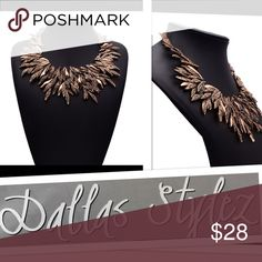 Brand New Statement Necklace Brown Crystals Brand New Lovely 😊  Super Cute!!! Make a State! Dallas Stylez Jewelry Earrings