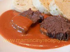 Rajská s perníkem a povidly Meatloaf, Steak, Beef, Youtube, Food, Meat, Essen, Steaks, Meals
