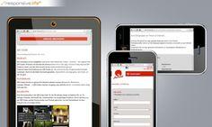 Responsive Webdesign  http://www.echonet.at/de/projekte/352/Freecard-Medienservice#
