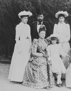 Princess Marie of Saxe-Coburg and Gotha, her father Prince Alfred Duke of…