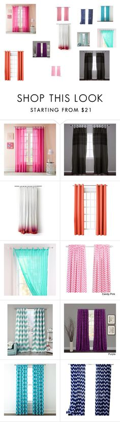 """Beautiful Curtain Collage!"" by ivieoww ❤ liked on Polyvore featuring Mi-Zone, Pom Pom at Home, Sun Zero, PBteen, Lala + Bash, Lush Décor, Home Expressions and ichcha"