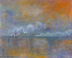 Charing Cross Bridge , London  -  Claude Monet