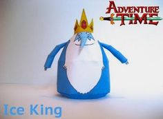 Adventure Time - Ice King Paper Toy - by Poe - Rei Gelado        From Adventure Time animation, here is the Ice King paper toy, created by designer Poe, from Adventure Time Papercrafts website.