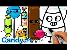 How to Draw Shopkins La'Lotion and Margarina Cute and Easy step by step - YouTube
