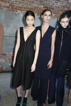 Backstage at Derek Lam RTW Fall 2015 [Photo by Kyle Ericksen]