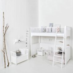 Seaside Loft Bed in White by Oliver Furniture