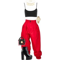 A fashion look from August 2017 featuring Yves Saint Laurent pants, Thom Browne tote bags and River Island watches. Browse and shop related looks. Summer Outfits, Casual Outfits, Cute Outfits, Fashion Outfits, Womens Fashion, Fashion Trends, Estilo Grunge, Fashion Killa, Swagg