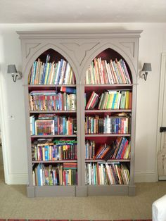 tulipwood arched bookcase