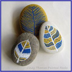 Light as a Feather | by Painted Rocks by Cindy Thomas