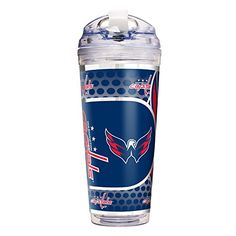 NHL Washington Capitals Double Wall Acrylic Travel Tumbler 24Ounce Clear ** Read more reviews of the product by visiting the link on the image. (This is an affiliate link) #TravelMugs