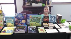 Usborne Vendor booth and the best helper ever!