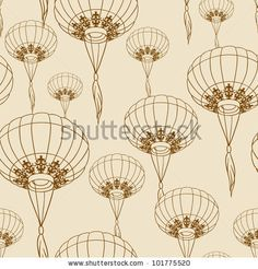Lanterns Repeat Pattern