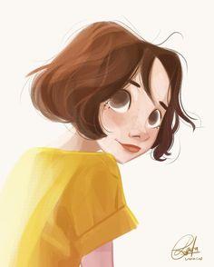 a happy cheerful girl😁 Cartoon Drawings, Cartoon Art, Cute Drawings, Character Drawing, Character Illustration, Illustration Art, Bd Comics, Character Design Inspiration, Anime Art Girl