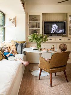 Banquette/Breakfast Nook | A Divine Dining Room: 7 Family Friendly Interiors by Interior Designer Lauren Liess.