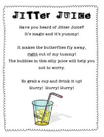 Jitter juice for the first day of school jitters! | General ...