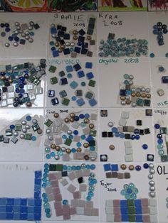 Kid-made mosaics...
