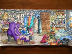 "151 Likes, 13 Comments - Yanaficient (@yanaficient) on Instagram: ""Book: Romantic Country - The Second Tale by Eriy Medium: Prismacolor Premier coloured pencils  #wip…"""