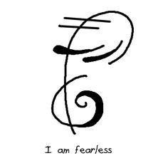 """""""I am fearless"""" sigil"""