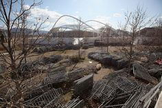 Abandoned Olympic Venues From Around The World    Barricades Outside The Stadium…