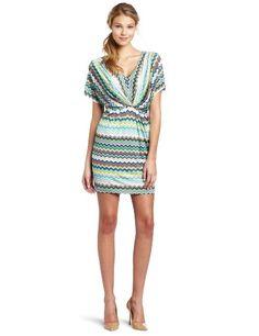 Trina Turk Women's Pebble Zig Zag Matte Jersey Dress