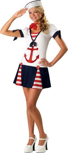 Teen Girls Sassy Sailor Costume - Career Costumes - Teen Costumes - Halloween Costumes - Party City