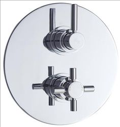 Create a neat, streamlined look to your bathroom with the Hudson Reed Tec thermostatic twin shower valve, which features a round plate with a chrome finish. This shower valve will supply water at a pre-set temperature to either a fixed shower head, sho Shower Valve, Shower Faucet, Fixed Shower Head, Hudson Reed, Shower Heads, Chrome Finish, Bathroom Hooks, Plates, Twin
