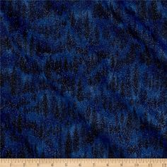 Moda Forest II Glitter Trees Night Sky from @fabricdotcom From Moda, this cotton print fabric features beautiful trees and lots of sparkle with glitter accents. Perfect for quilting, apparel and home decor accents. Colors include black and shades of blue.