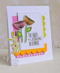 Card by Kay Miller using Happy Place (releasing 7/11/14 from Verve). #vervestamps