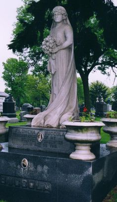 "Julia Buccola Petta died at the age of 29 while giving birth to a stillborn son, Filippo. Julia was buried in her wedding dress and given the nickname of ""The Italian Bride."" She is buried at Mount Carmel Cemetery in Chicago, Illinois and her memorial can be found at ancstry.me/1AkUuMC #findagrave"