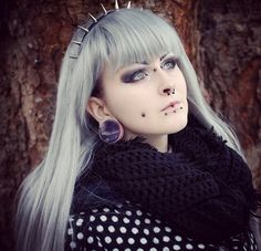 Here is the lovely @Dollsonmorphine‏ wearing our plugs! show some love. #plugs #gauges #ukcp #ukcustomplugs