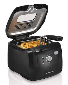 Hamilton Beach Deep Fryer with Cool Touch 2 Liter Oil Capacity 35021 Fryers Bar Small Kitchen Appliances, Kitchen Gadgets, Kitchen Tools, Kitchen Small, Kitchen Supplies, Kitchen Stuff, House Appliances, Cooking Appliances, Smart Kitchen