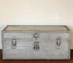 Vintage Metal Military Trunk Uncovet