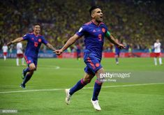 Radamel Falcao of Colombia celebrates after scoring his team's second goal during the 2018 FIFA World Cup Russia group H match between Poland and. World Cup Russia 2018, World Cup 2018, Fifa World Cup, Carlos Valderrama, Laws Of The Game, Robert Lewandowski, International Football, Latest Sports News, News India