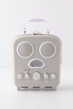 Swansea Beach Radio by Sunnylife. AM/FM speaker box - sand and water resistant plastic cover snaps tight to protect your iPod or iPhone whilst at the beach. Radios, Swansea Beach, Sup Shop, Poste Radio, Pool Accessories, Iphone Accessories, Vintage Accessories, Sunnylife, Beach Essentials