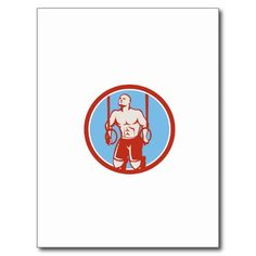 Cross-fit Ring Dip Circle Retro Postcard. Illustration of a athlete body weight exercise hanging on gymnastic ring dip kipping muscle up facing front inside circle done in retro style on isolated white background. #gynmanstics #olympics #sports #summergames #rio2016