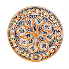Moroccan hand painted plate dish