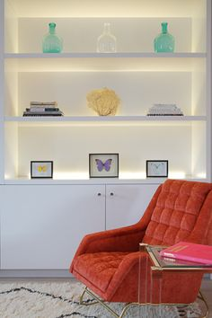 Arundel Gardens « Jess Lavers Design Notting Hill Apartments, Bookcase, Lounge, Shelves, Couch, Colours, Furniture, Gardens, Design