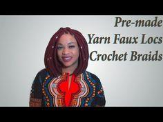 Pre-made Yarn Faux Locs Crochet Braids | Gorgeous DIY Protective Style | Red Yarn Locs Bob - YouTube