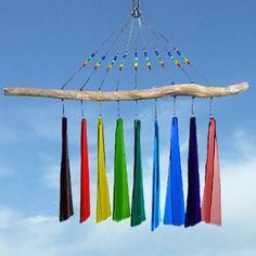 Fused Glass Windchime : Rainbow