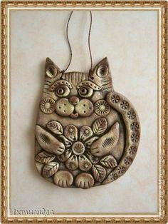 Поделка изделие День рождения Лепка Пряничные котики Тесто соленое фото 15