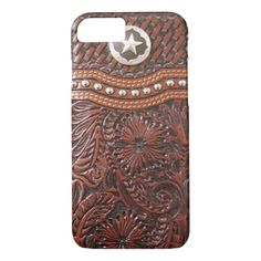 Vintage Western Brown and Silver iPhone 7 Case