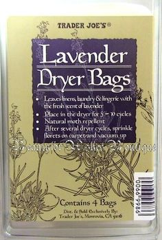 Trader Joe's Lavender Dryer Bags