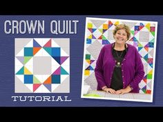 Make a Crown Quilt with Jenny! - YouTube