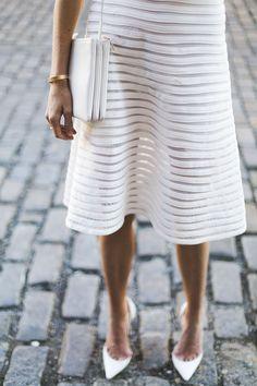 Sheer white stripes